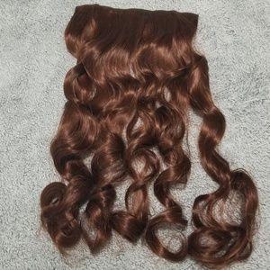 "Auburn Hair Extension Clip-In 24"" Long Wavy"